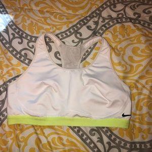 White & Yellow Nike Sports Bra